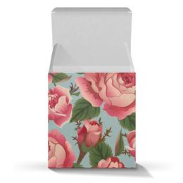 """Подарочная коробка-куб """"Розалия"""" - цветы, розы"""
