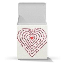 """Коробка для кружек """"Я тебя люблю (подарочная упаковка)"""" - праздник, любовь, надписи, подарок, слова"""