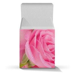 """Коробка для кружек """"Капли на лепестках розы"""" - день матери, 8 марта, капли, цветы, розы"""