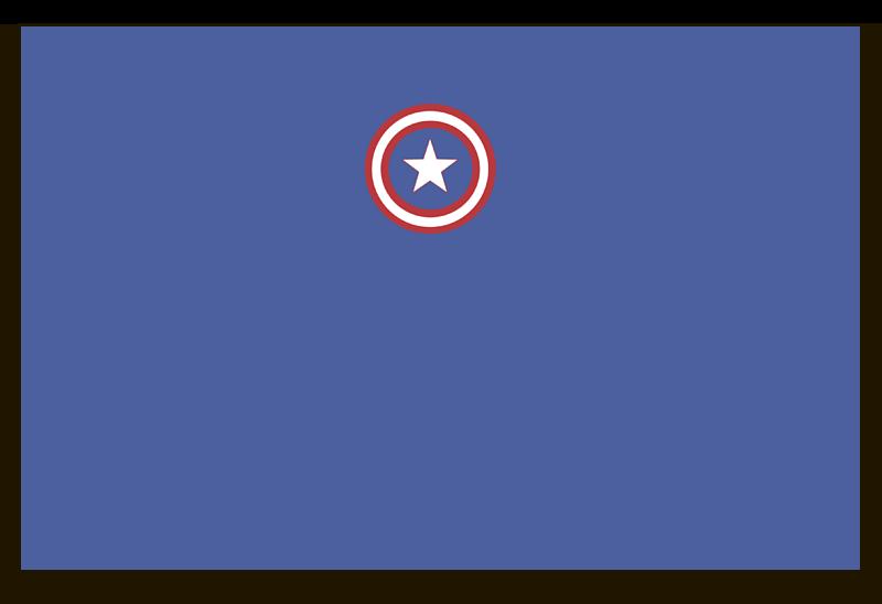 Визитная Карточка Евро Printio Капитан америка отсутствует автомир 35 2017