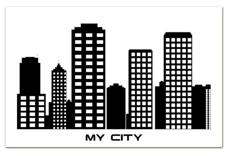 Визитная Карточка Евро Printio Мой город