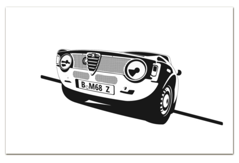 Визитная Карточка Евро Printio Retro alfa romeo racing наклейки tony 2 74 alfa romeo mito 147 156 159 166 giulietta gt