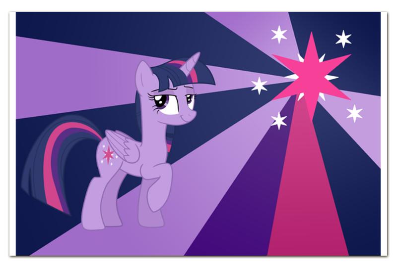 Визитная Карточка Евро Printio Twilight sparkle color line