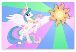 "Визитная Карточка ""Евро"" ""Princess Celestia Color Line"" - magic, celestia, friendship, princess"