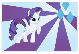 "Визитная Карточка ""Евро"" ""Rarity Color Line"" - magic, fim, rarity, cutiemark, friendship"