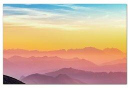 """Визитная Карточка """"Евро"""" """"Без названия"""" - небо, природа, закат, горы, пейзаж"""