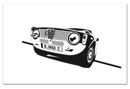 """Визитная Карточка """"Евро"""" """"Retro Alfa Romeo Racing"""" - ретро, авто, машина, гонки, alfa romeo"""