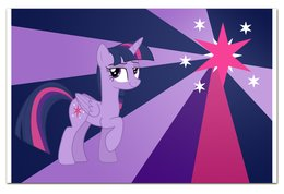 "Визитная Карточка ""Евро"" ""Twilight Sparkle Color Line"" - twilight sparkle, cutiemark, princess"