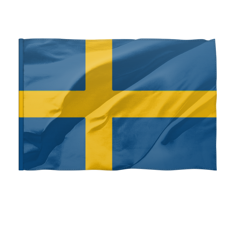купить Флаг 150x100 см Printio Швеция по цене 1570 рублей