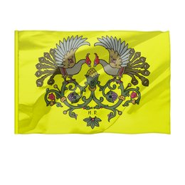 "Флаг 150x100 см ""Виньетка с птицами"" - птицы, билибин"