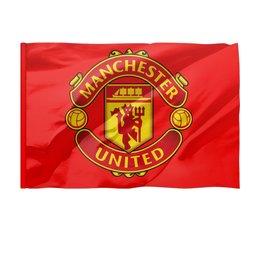 "Флаг 150x100 см ""Manchester united"" - mu, manchester united, красные дьяволы, мю"