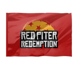 "Флаг 150x100 см ""Red Piter Redemption"" - надпись, питер, ретро, rockstar games, read dead redemption"