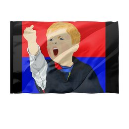 "Флаг 150x100 см ""Фанат"" - футбол, победа, фанат, стадион, гол"