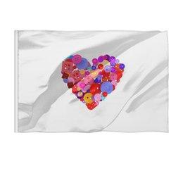 """Флаг 150x100 см """"День всех влюбленных"""" - любовь, день святого валентина, валентинка, i love you, день влюбленных"""
