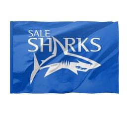 """Флаг 150x100 см """"Сейл Шаркс регби"""" - спорт, регби, англия, акула"""