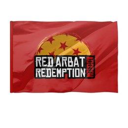 "Флаг 150x100 см ""Red Arbat Moscow Redemption"" - надпись, москва, rockstar games, арбат, read dead redemption"