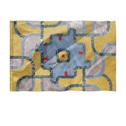 "Флаг 150x100 см ""Мандала Богатства Золото и Мрамор (Орнамент)"" - узор, орнамент, камень, богатство, премиум"