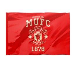 """Флаг 150x100 см """"Манчестер Юнайтед"""" - манчестер юнайтед, manchester united, футбольный клуб, красные дьяволы, мю"""