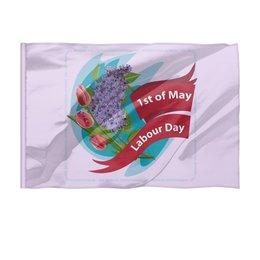 """Флаг 150x100 см """"1 мая"""" - праздник, цветы, 1 мая, весна, день труда"""