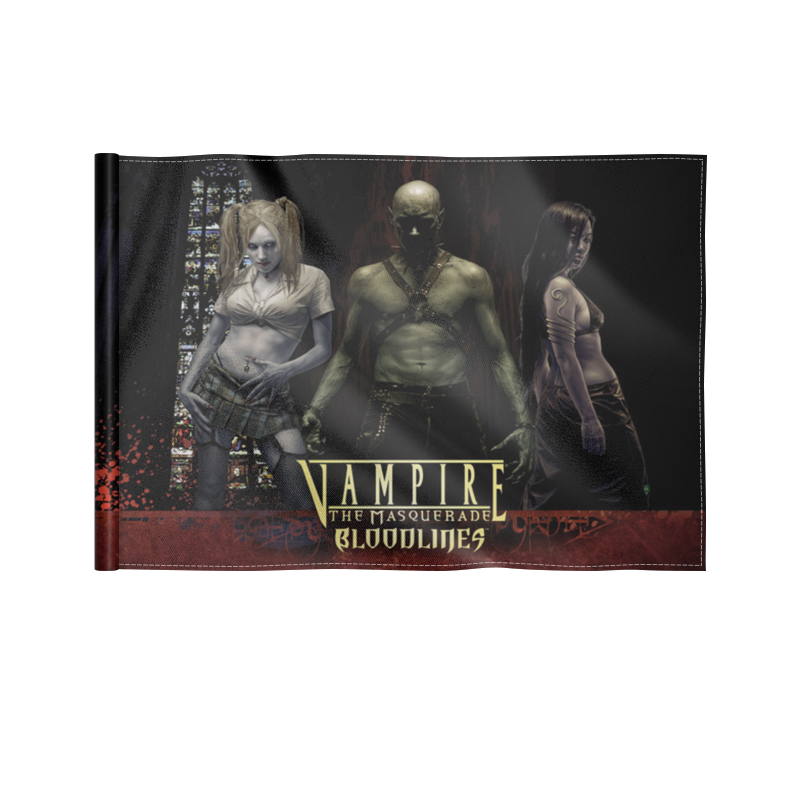 Флаг 22х15 см Printio Vampire: the masquerade always the vampire