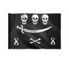"Флаг 22х15 см ""Пираты"" - череп, праздник, пираты"