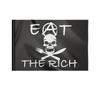 """Флаг 22х15 см """"Анархия. Ешь богатых."""" - anarchy, анархия, черный флаг, eat the rich, анархисты"""