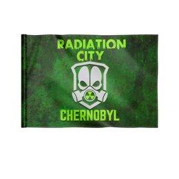 """Флаг 22х15 см """"Чернобыль"""" - кино, сериал, катастрофа, чернобыль, зона отчуждения"""