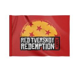 "Флаг 22х15 см ""Red Tverskoy Moscow Redemption"" - надпись, москва, rockstar games, read dead redemption, тверской"