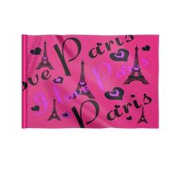 """Флаг 22х15 см """"Париж"""" - париж"""