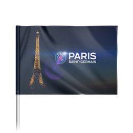 "Флаг 22х15 см ""Эйфелева башня, логотип ПСЖ и надпись"" - футбол, париж, псж, пари сен-жермен, psg"