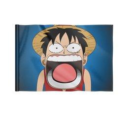 """Флаг 22х15 см """"Луффи - Чё??!!"""" - аниме, шляпа, one piece, луффи, монки ди луффи"""