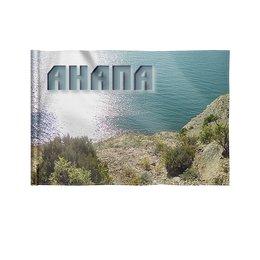 "Флаг 22х15 см ""Анапа."" - море, природа, пейзаж, побережье, анапа"