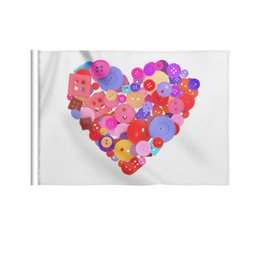 """Флаг 22х15 см """"День всех влюбленных"""" - любовь, день святого валентина, валентинка, i love you, день влюбленных"""