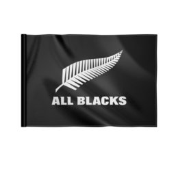 "Флаг 22х15 см ""All Blacks"" - спорт, регби, новая зеландия"