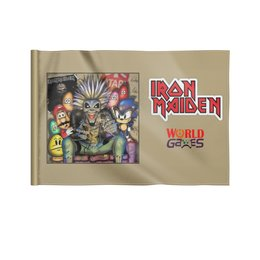 "Флаг 22х15 см ""Iron Maiden"" - heavy metal, рок музыка, рок группа, iron maiden, айрон мэйден"