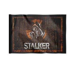 """Флаг 22х15 см """"Сталкер"""" - кино, сериал, сталкер, чернобыль, зона отчуждения"""