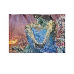 """Флаг 22х15 см """"Демон сидящий (Михаил Врубель)"""" - картина, живопись, врубель"""
