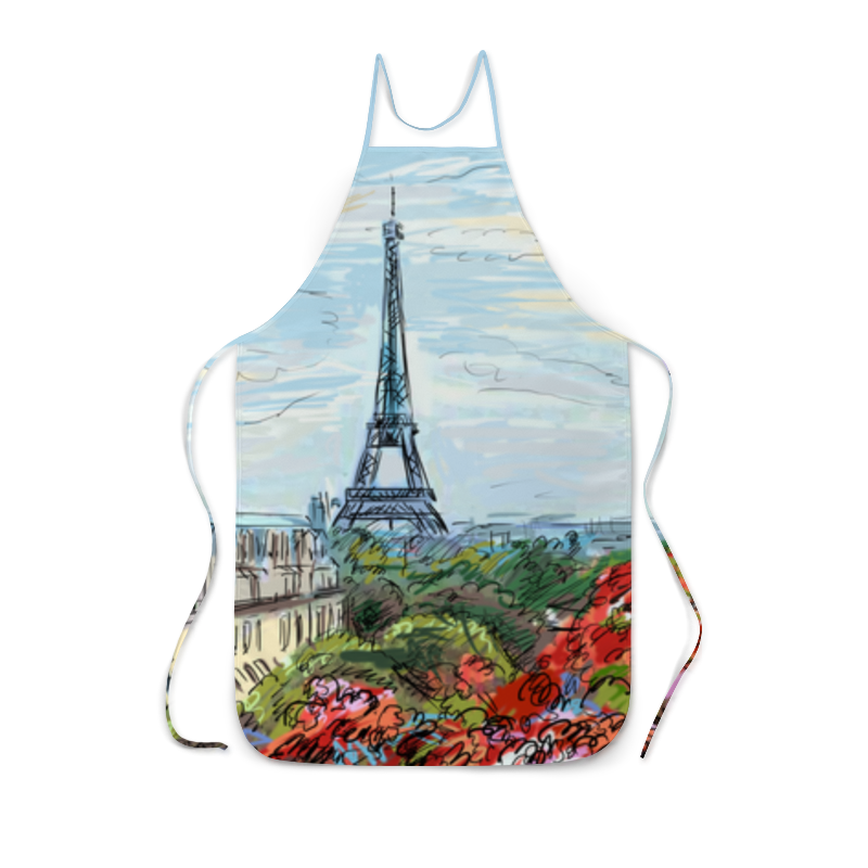 Фартук с полной запечаткой Printio Эйфелева башня рюкзак с полной запечаткой printio эйфелева башня