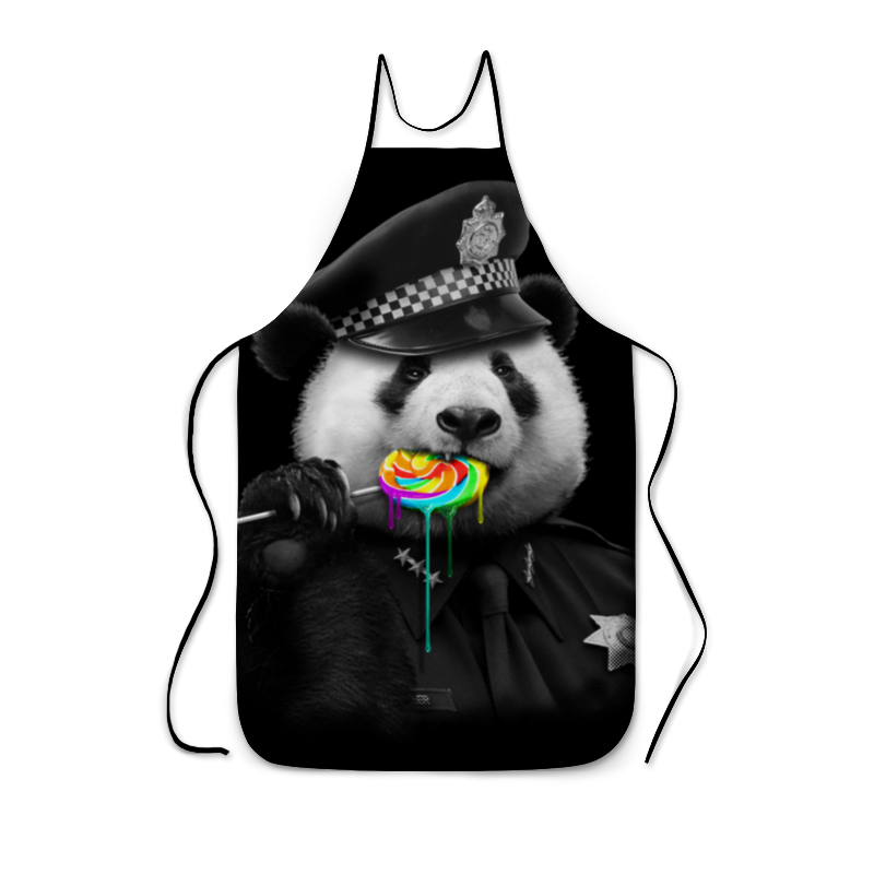 Фартук с полной запечаткой Printio Панда коп свитшот унисекс с полной запечаткой printio панда коп