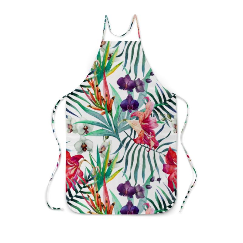 Фартук с полной запечаткой Printio Тропические цветы