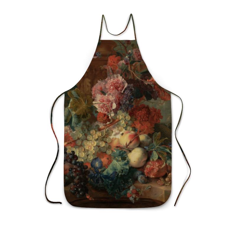 Фартук с полной запечаткой Printio Цветы (ян ван хёйсум) сумка с полной запечаткой printio девушка с жемчужной серёжкой ян вермеер