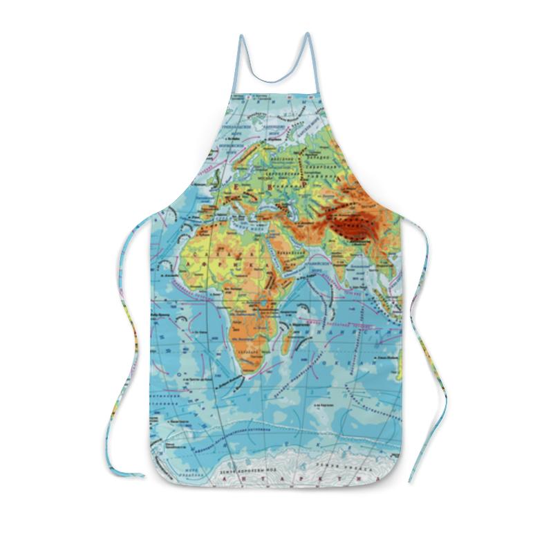 Фартук с полной запечаткой Printio Карта мира