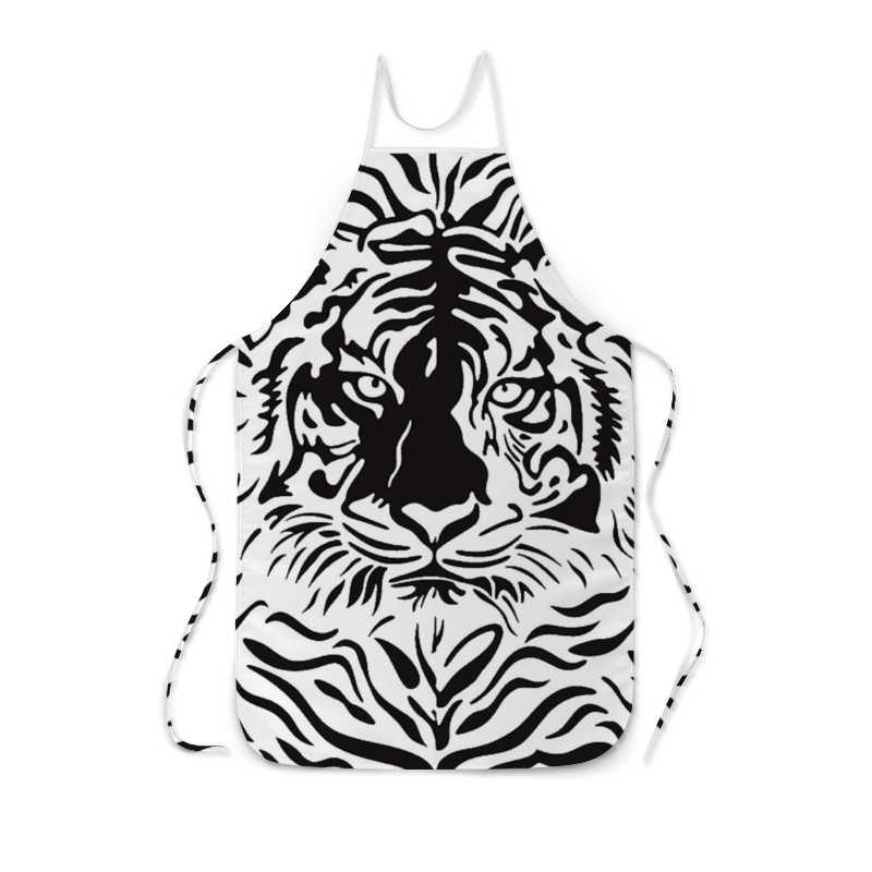 Фартук с полной запечаткой Printio Взгляд тигра хоук к в поисках тигра