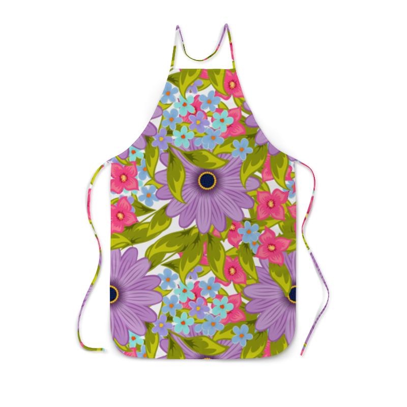 Printio Цветы фартук с полной запечаткой printio кухонные аксессуары