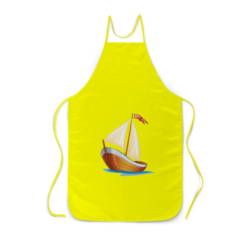 Фартук с полной запечаткой Printio Кораблик плывущий по волнам. песочная картинка кораблик