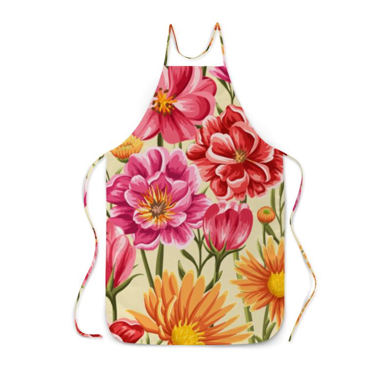 Фартук с полной запечаткой Printio Садовые цветы лейки садовые ведра
