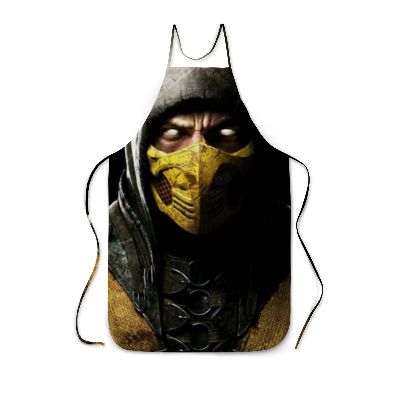 Фартук с полной запечаткой Printio Скорпион (мортал комбат) свитшот мужской с полной запечаткой printio скорпион мортал комбат