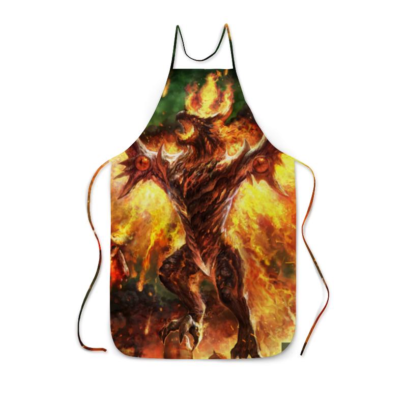 Фартук с полной запечаткой Printio Огненный дракон цена