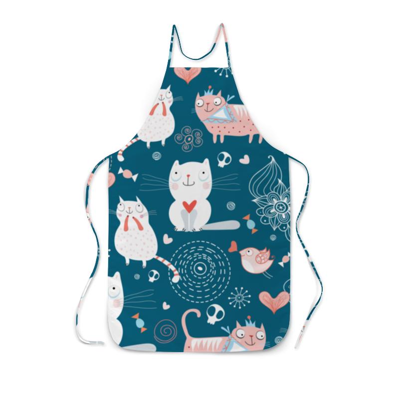 Фартук с полной запечаткой Printio Прикольные коты