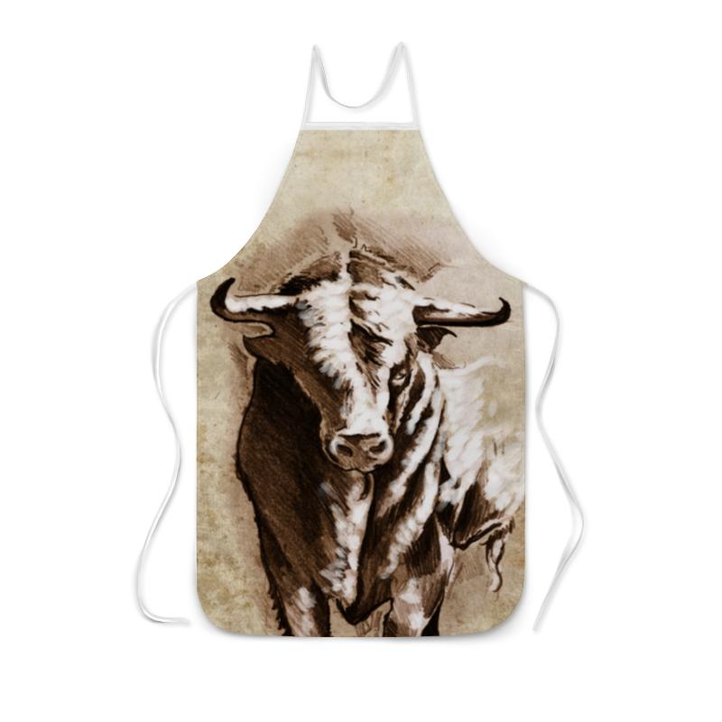 Фартук с полной запечаткой Printio Бык в карандашном рисунке скульптура бык хохлома